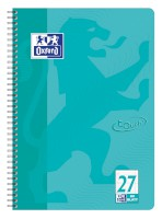 Oxford Touch Collegeblock A4+ L.27 aqua, 80 Blatt 90g/m² Optik Paper