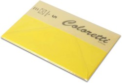 Coloretti Briefumschlag C6 Goldgelb im 5er Pack
